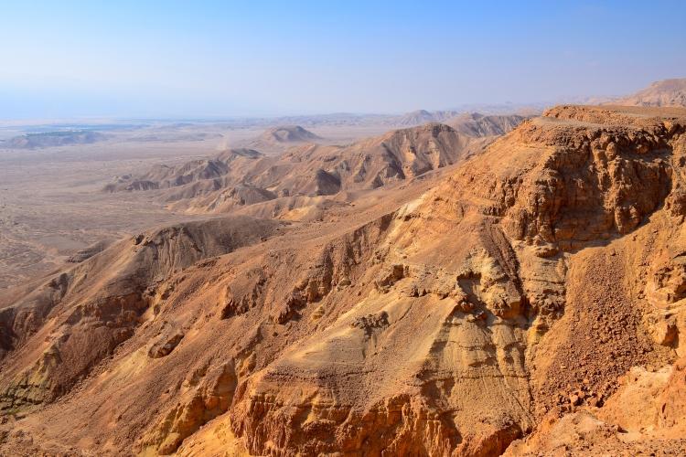 Beautiful view of the mountains surrounding the kibbutz.