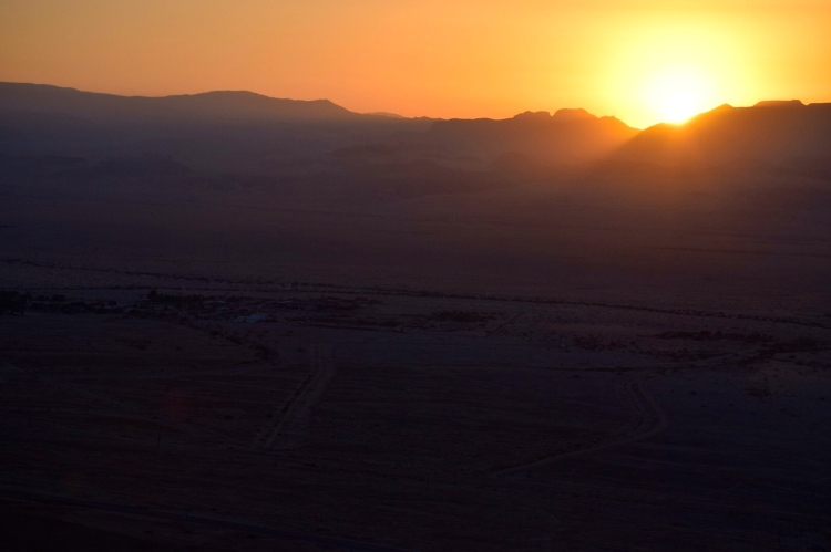 Sunrise over Jordan