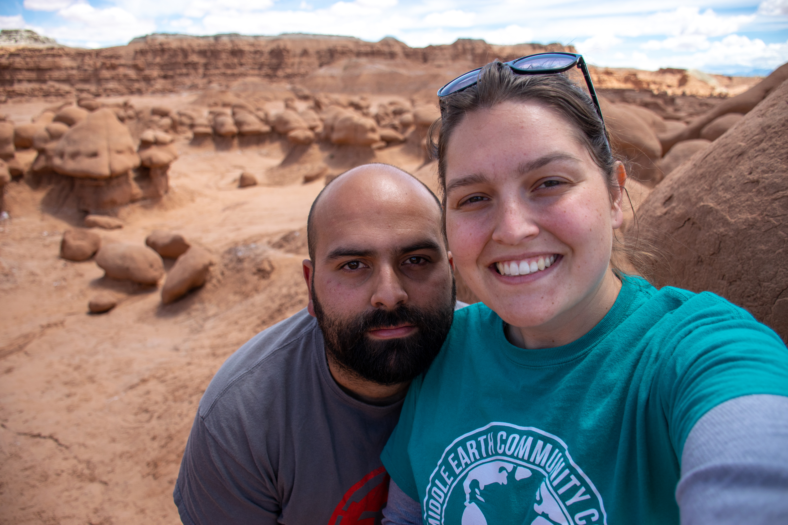 Selfie at goblin valley