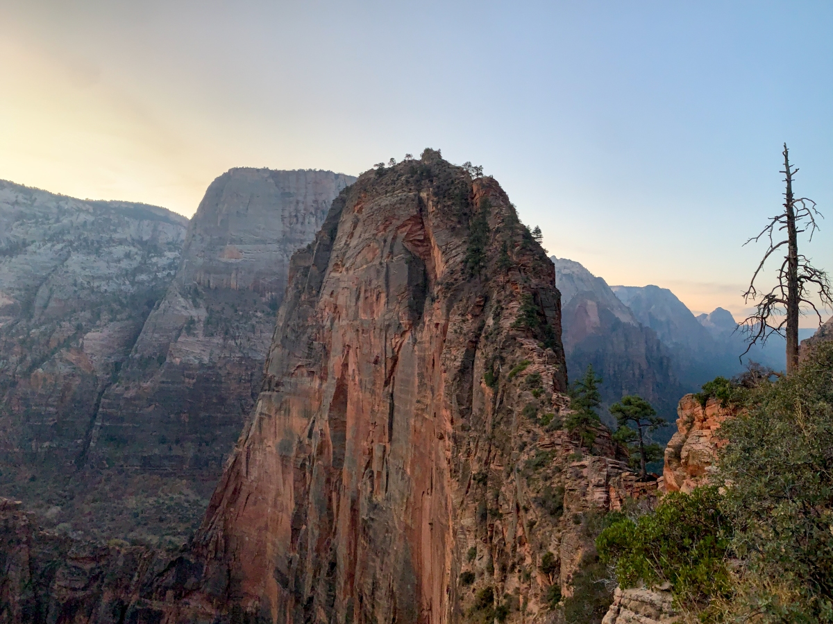 View of Angel's Landing at Dawn